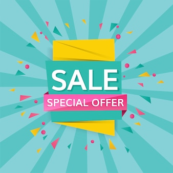 Special offer sale sign