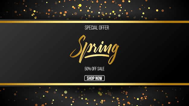 Special offer spring sale background