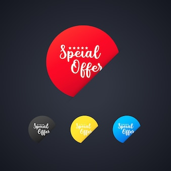 Special offer sticker set. for graphic and web design. vector on isolated background. eps 10.