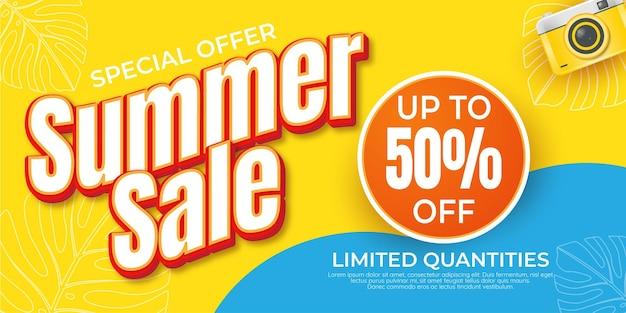 Special offer summer sale promotion