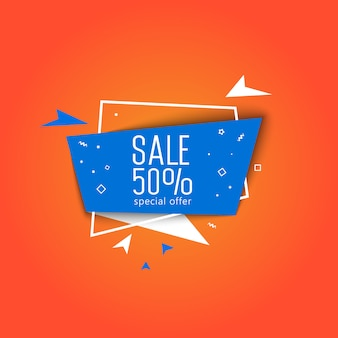 Special offer super sale banner vector illustration.