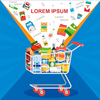 Special offer on supermarket sale vector concept