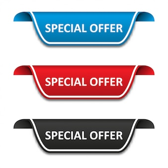 Special offer tag label set