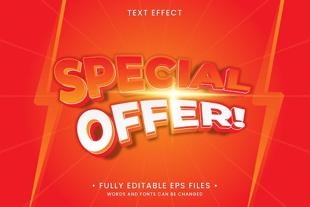 Special offer text effect