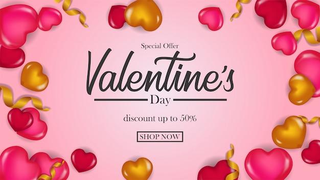 Special offer valentine day banner
