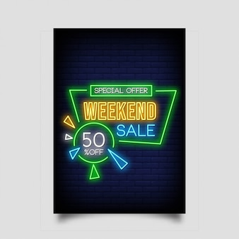 Special offer weekend sale banner