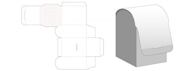Special packaging box die cut template design