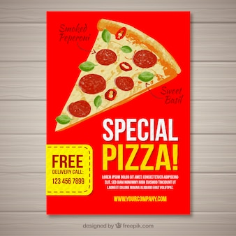Special pizza offer brochure