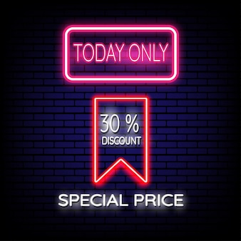 Special price sale neon sign