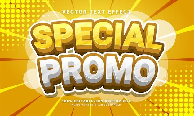 Special promo 3d text effect, editable text style and suitable for promotion sales