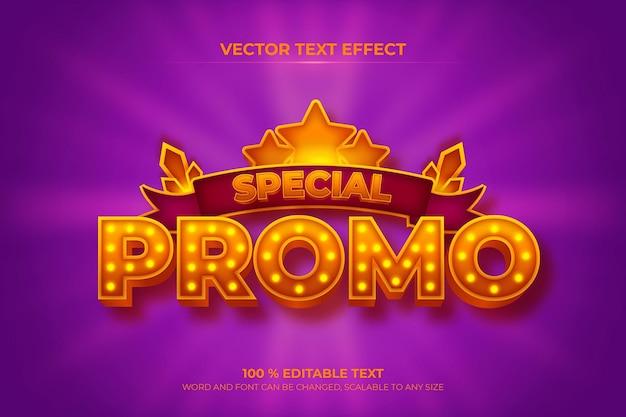 紫色のリボンの背景スタイルの特別なプロモーション編集可能な3dテキスト効果