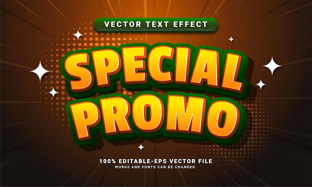 Special promo editable text style effect themed sales promotion