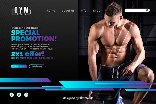 Special promotion sport landing page