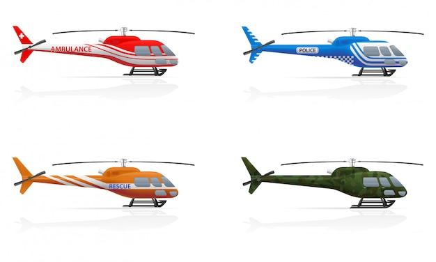 Вертолеты специального назначения. Premium векторы