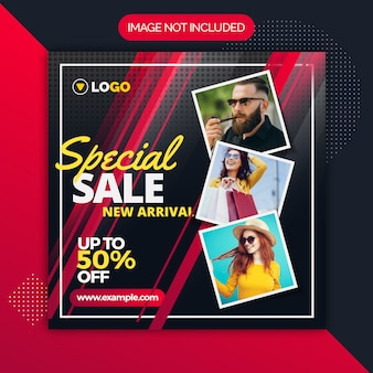 Special sale instagram social media template