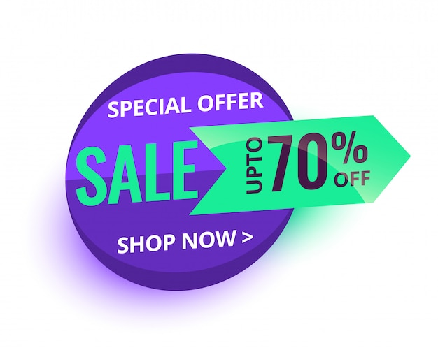 Special sale offer and price tag banner design