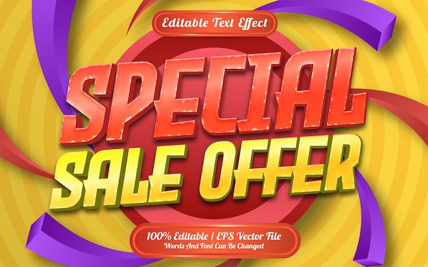 Special sale offer text effect template style