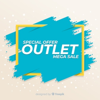 Special sale outlet banner