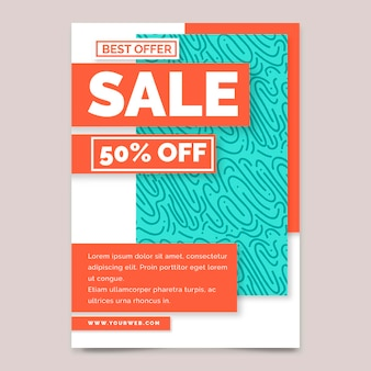 Special sale poster template with discount