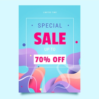 Special sale poster template