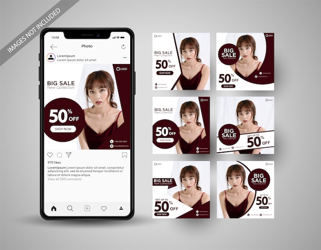 Special sale social media post collection instagram
