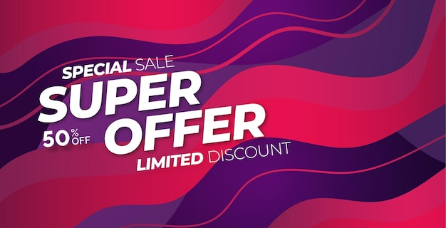 Special sale super offer with abstract colorful