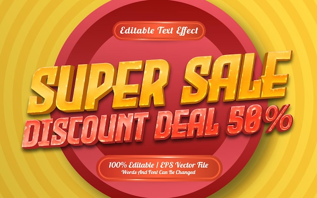 Special sale text effect template style