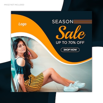 Special season sale offer social media post web banner template
