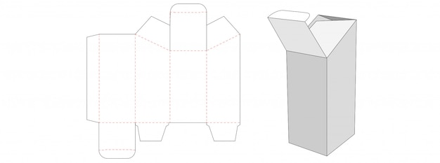 Special shaped packaging box die cut template design