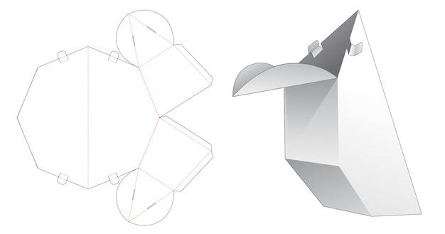 特殊な形状のパッケージダイカットテンプレート