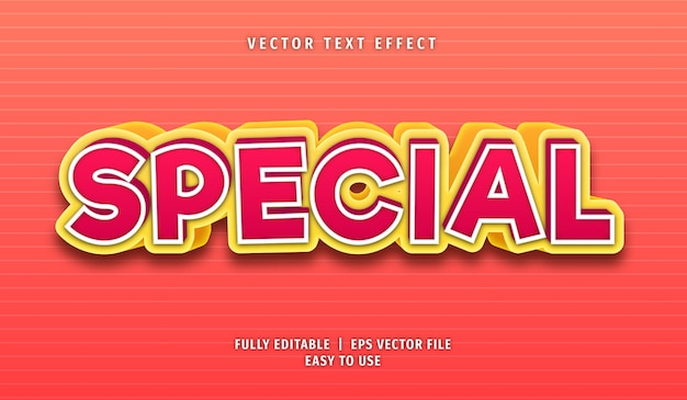 Special text effect editable text style