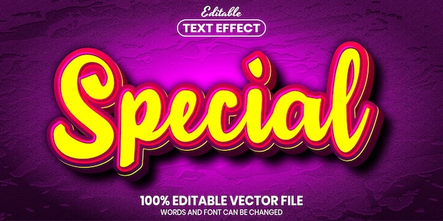 Special text, font style editable text effect