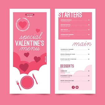 Special valentine's day menu