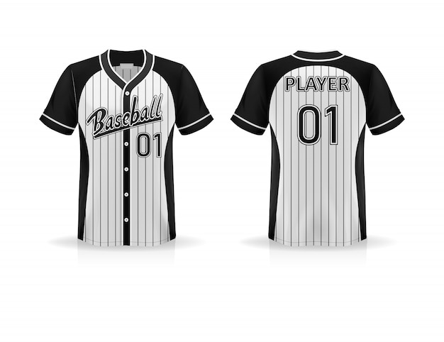 Specification baseball t shirt    isolated on white background , blank space on the shirt for the design and placing elements or text on the shirt , blank for printing , illustration