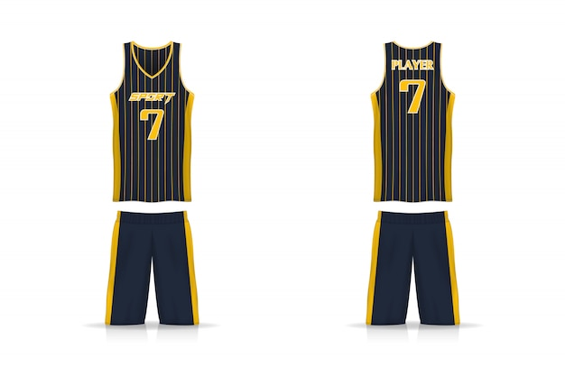 Specification basket jersey and short pants template.