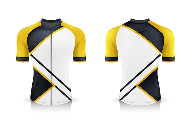Specification cycling jersey template. sport t shirt round neck uniform for bicycle apparel .