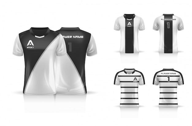 Спецификация футбол спорт, esport gaming t футболка джерси шаблон. набор для сбора одежды. иллюстрация