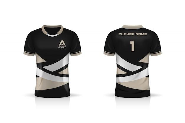 Specification soccer sport , esport gaming t shirt jersey template.  uniform .  illustration