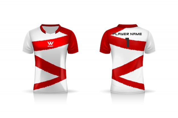 Specification soccer sport , esport gaming t shirt jersey template.  uniform .  illustration