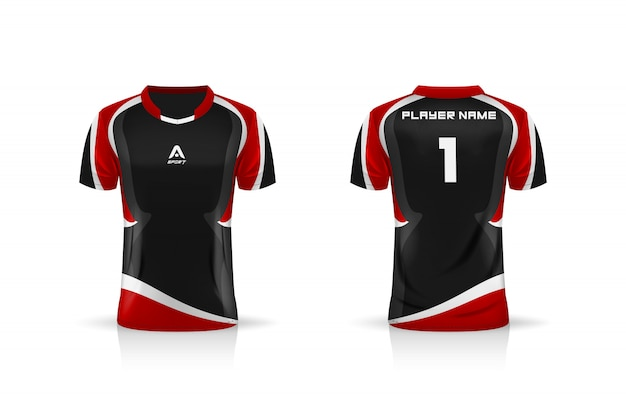 Specification soccer sport  , esports gaming t shirt jersey template. uniform . illustration design