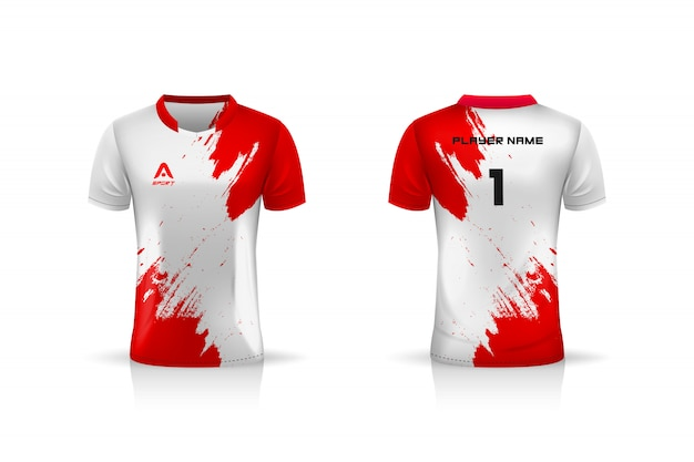 Specification soccer sport  , esports gaming t shirt jersey template.  uniform .  illustration