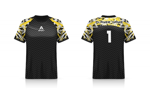 Specification soccer sport, esports gaming t shirt jersey template.