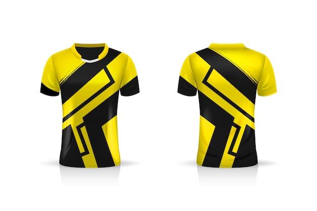 仕様サッカースポーツ、eスポーツゲーミングtシャツジャージーテンプレート。