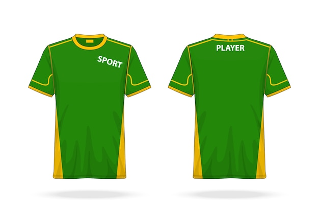 Specification soccer t shirt round neck jersey mock up
