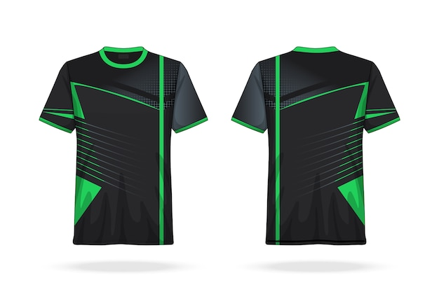 Specification soccer t shirt round neck jersey template
