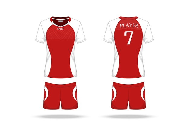 Specification volleyball jersey isolated on white background