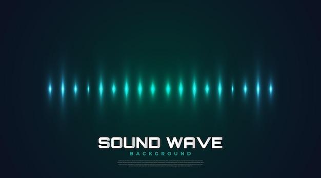빛나는 파도와 스펙트럼 사운드 배경입니다. 음악, 데이터, 과학 및 기술을 위한 이퀄라이저 디자인. 표지, 프레젠테이션, 배너 또는 바탕 화면에 적합한 음악 배경