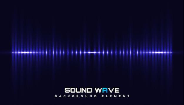 輝く波とスペクトルサウンドの背景