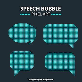 Palloncini discorso in stile pixel art