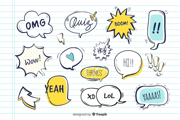 Speech balloons with different expressions